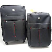 Дорожній чемодан текстиль малий чорний Арт.5028/3(S) noir DavidJones Франція