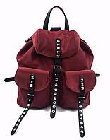 Рюкзак жіночий, бордо, текстиль Арт.15917 CCS Туреччина (Рюкзак жіночий, бордо, коттон)