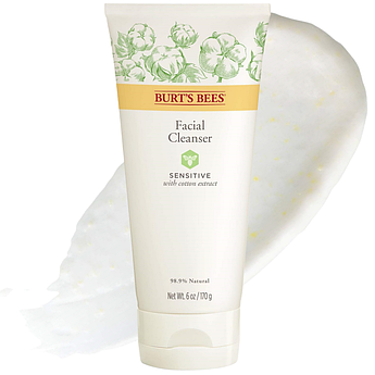 Гель-крем для умывания чувствительной кожи Burt's Bees Sensitive Facial Cleanser 170 г
