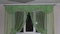 """Кухонная занавеска на большое окно """"Злата"""""""