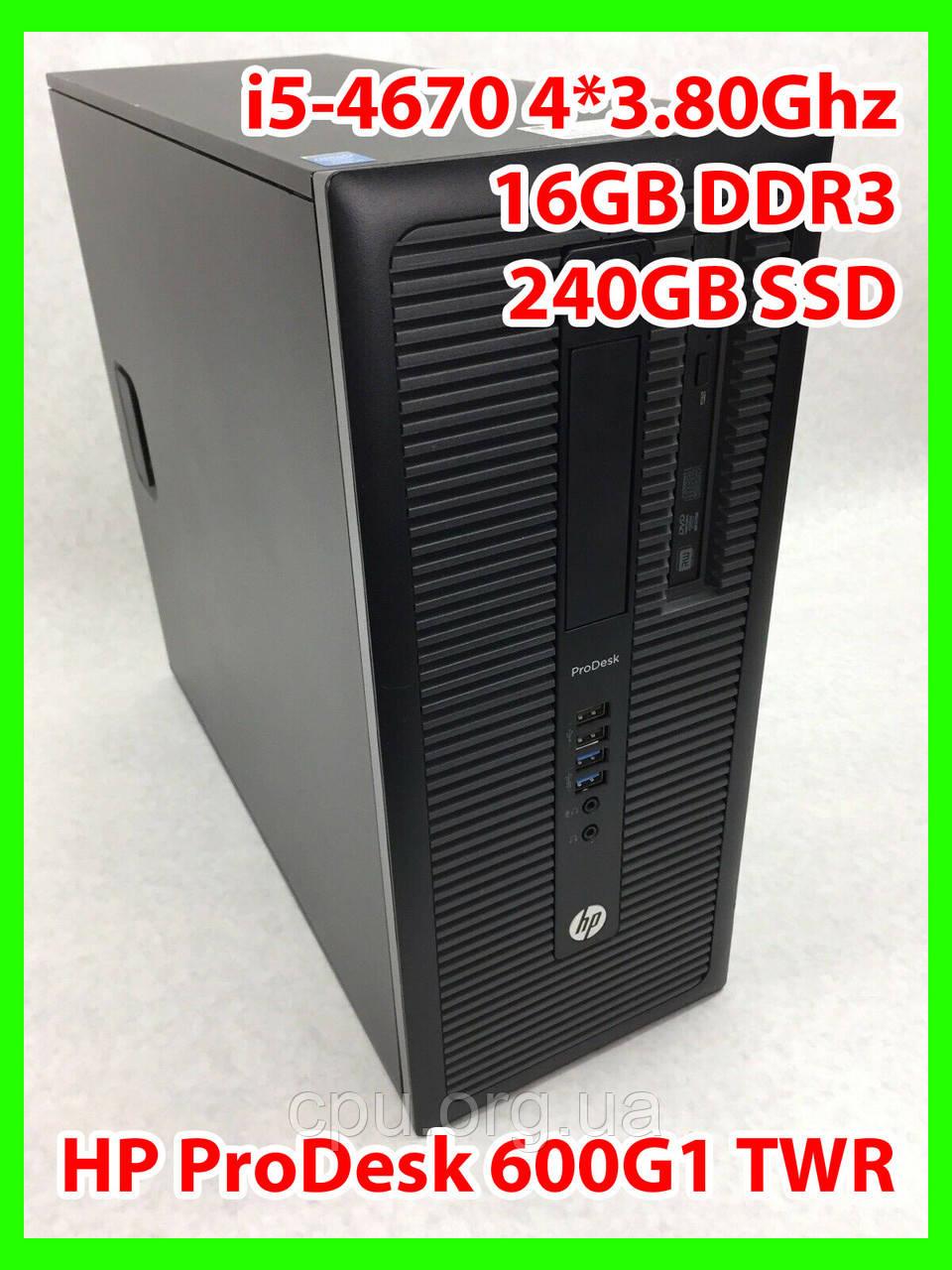 Системный блок HP- i5-4670 4 ядра 3,40-3,80Ghz / 16GB DDR3 / SSD 240gb
