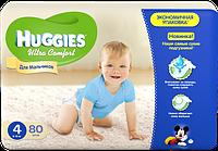Подгузники Huggies Ultra Comfort для мальчиков 4, 8-14 кг, 80 шт. (5029053543673)