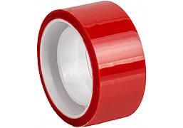 Лента клейкая канцелярская декоративная 18 мм x 10 м Optima, красная