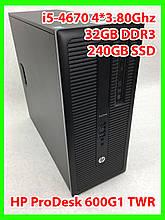 Системный блок HP- i5-4670 4 ядра 3,40-3,80Ghz / 32GB DDR3 / SSD 240gb