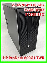 Системный блок HP- i5-4670 4 ядра 3,40-3,80Ghz / 32GB DDR3 / SSD 512gb