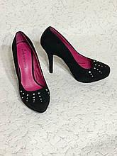 Шикарные туфли лодочки замша кожа 🌹37,5-38 размер