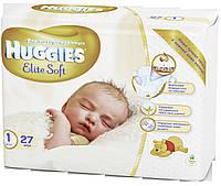 Подгузники Huggies Elite Soft Newborn 1, до 5 кг, 27 шт. (5029053545479)