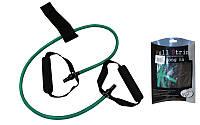 Эспандер трубчатый с ручками с дверным фиксатором FI-2659-G 15LB (латекс,d-6x9мм, l-120см, зеленый)