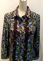Блуза шелковая женскаяв в стиле GIVЕNCHY цветная