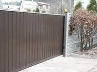 Ворота откатные зашивка профнастилом 1 ст (4000х2000)