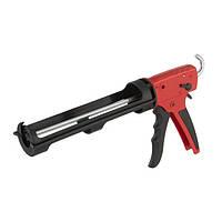 Пистолет для выдавливания силикона, усиленный пластик, 2 режима, аквастоп INTERTOOL HT-0028