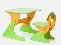 """Детская парта со стульчиком SportBaby """"Растишка"""", цвет желто-зеленый"""