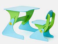 """Детская парта со стульчиком SportBaby """"Растишка"""", цвет зелено-синий"""
