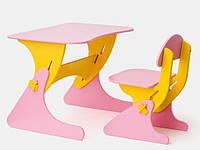 """Детская парта со стульчиком SportBaby """"Растишка"""", цвет розово-желтый"""