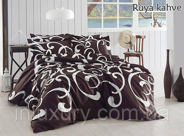 Комплект постільної білизни Ruya kahve, фото 2