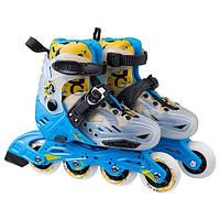 Роликовые коньки World Sport размер 32-35 синие SKL11-289698