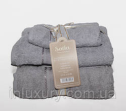 Набір рушників Sofia колір: сірий
