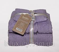 Набір рушників Sofia колір: бузковий