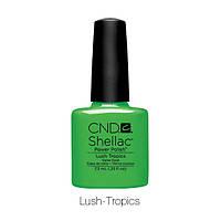 CND Shellac Lush Tropics  / ярко зелёный тропик, 7,3 мл