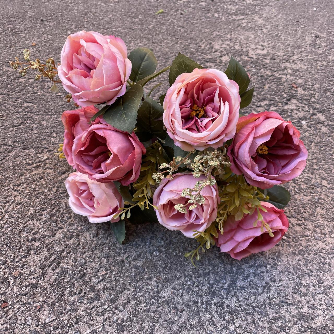 Піоновидна троянда Остін кораловий 46 см