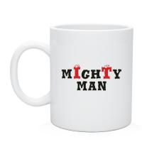 Чаша с нанесением  mIghTy man, отличный подарок админу