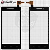 Touchscreen (сенсорный экран) для Prestigio MultiPhone 3451, черный, оригинал