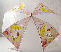 Зонт детский  розовый, кити, 33_2_49a2