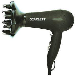 Фен для волос SCARLETT SC-1072 с насадкой-диффузором и двумя режимами мощности