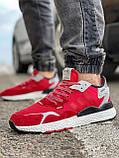 Кроссовки мужские 17297, Adidas Nite Jogger Boost 3M красны, [ 41 42 43 44 45 ] р. 41-25,2см., фото 2
