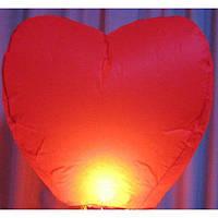 Небесный китайский фонарик, сердце 85х85см