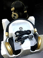 Bluetooth-навушники WUW Wirreless Headset R103 Version 5.0 (чорний з золотистим вствками)