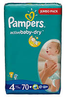 Подгузники Pampers Active Baby-Dry Maxi 7-14 кг, 70 шт. (1228217)