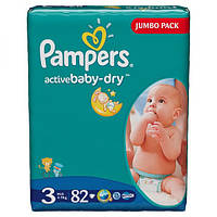 Подгузники Pampers Active Baby-Dry Midi 4-9 кг, 82 шт. (1228118)