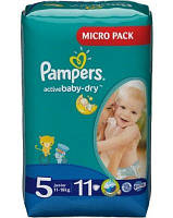 Подгузники Pampers Active Baby-Dry Junior 11-18 кг, 11 шт. (1224085)