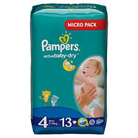 Подгузники Pampers Active Baby-Dry Maxi 7-14 кг, 13 шт. (1228243)