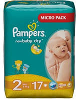 Подгузники Pampers New Baby-Dry Mini 3-6 кг, 17 шт. (1228112)