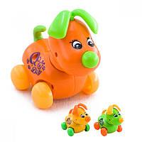 Заводная игрушка Na-Na Собака на колесах IE448