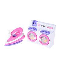 Детская стиральная машинка и утюг Na-Na со светом и звуком IE396
