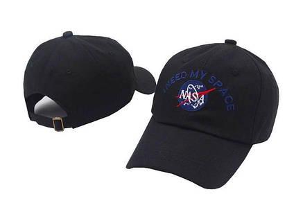 Кепка Бейсболка Мужская Женская NASA I Need My Space НАСА Черная, фото 2