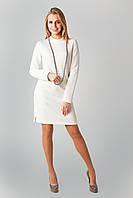 Стильное женское платье из структурного трикотажа