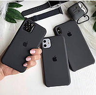 Чехол на iPhone X (Черный / Black)накладка бампер силиконовый silicon case