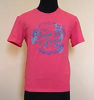 Мужская футболка из стрейч- кулира малиновая