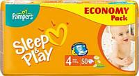 Подгузники Pampers Sleep & Play Maxi 7-14 кг, 50 шт. Экономичная упаковка (1228260)