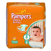 Подгузники Pampers Sleep & Play Midi 4-9 кг, 16 шт. (1228262)