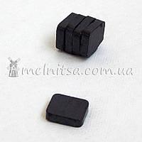 Магнит - заготовка ферритовый, квадратный, 15х15х3 мм