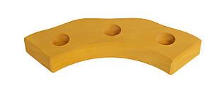 Nic Подсвечник праздничный деревянный полукруглый желтый