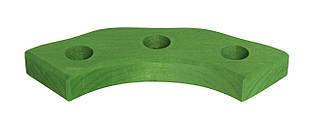 Nic Подсвечник праздничный деревянный полукруглый зеленый