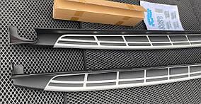 Hyundai Santa Fe 4 2018↗ рр. Бічні підніжки V2-B (2 шт)