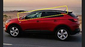 Верхние молдинги стекол (8 шт, нерж) для Opel Grandland X 2016↗ гг.