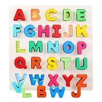 Деревянная игрушка Вкладыши «Английский алфавит», развивающие товары для детей.